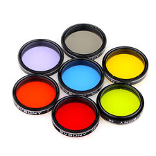 "1.25"" Eyepiece Filter Set Colored Planetary + Moon Filters Kit for Telescope US"