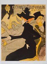 Henri de Toulouse-Lautrec Divan Japonais, 1892/1893 Poster Bild Kunstdruck