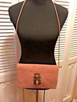 Catherine Mayhew Vintage Pink Faux Suede Clutch/Shoulder Bag