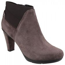 Women's Geox D Inspiration St. B D64g9b Zip-up Ankle BOOTS in Brown UK 7 / EU 40