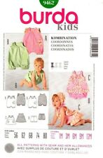 Burda Sewing Pattern 9462 Kids Baby Dress Romper Bloomers NEW