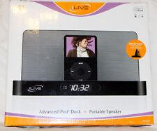 Ilive Advanced Ipod Dock + Portable Speaker Clock Alarm IS3 NIB w/ Remote Case