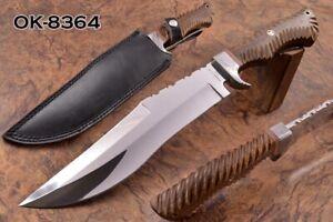 """16.0"""" KMA CUSTOM D2 TOOL STEEL MIRROR POLISH MASSIVE COMBAT BOWIE KNIFE 8364"""