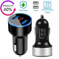 Black Dual Ports 3.1A USB Car Cigarette Charger Lighter Digital LED Voltmeter