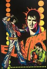 Elvis Presley Vintage Blacklight Poster Original Pin- Up 1970's Velvet Retro 70s