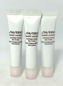 Lot/3 Shiseido White Lucent Anti-Dark Circles Eye Cream ~ .17 oz x 3 ~