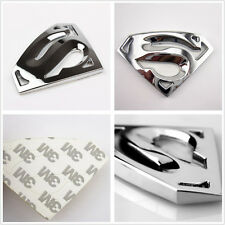 3.2in*2in Chrome Silver 3D Superman Superhero Emblem Logo Auto SUV Metal Sticker