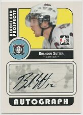 Brandon Sutter 2008-09 ITG In The Game Heroes And Prospects Autographs Card #ABS