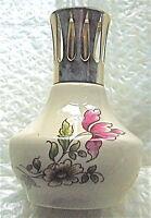 BELLE LAMPE BERGER ANCIENNE  FAIENCE DECOR DE FLEUR N°7