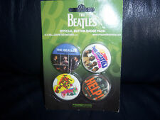 THE BEATLES BADGES BROOCHES PINS 4 BRAND NEW APPLE CORPS PRODUCT GIFT IDEA?