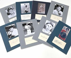 Baseball Autographed Displays - Lot of 8 - w/ Marion, Thomson, Appling, Ennis +