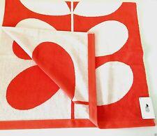 Orla Kiely Bath Towel  Piece Stem Jacquard Orange White Hand Wash Cloth NWT
