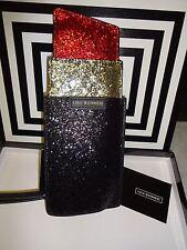 LULU GUINNESS RED LIPSTICK GLITTER BAG WRISTLET CLUTCH BRAND NEW IN BOX