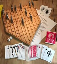 VINTAGE RARE HOMEMADE ONE OF A KIND HORSE RACING GAME CARDS DICE DERBY FUN PLAY