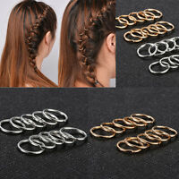 20pcs Women Boho Hip-Hop Braid Gold Silver Ring Hair Clip Pin Accessory DIY New