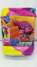 "DREAMWORKS TROLLS POPPY KID 46"" X 60"" PLUSH THROW BLANKET SLEEP L@@K"