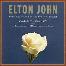 Elton John CD Single Something About The Way You Look Tonight / Candle In