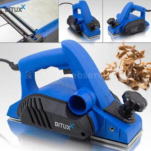 BITUXX Elektrohobel 600W Hobel elektrisch 82 mm Falzhobel Stufenhobel Handhobel