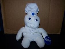 "PILLSBURY DOUGHBOY BEAN BAG TOY 8"" TALL WHITE NEW WITH TAG"