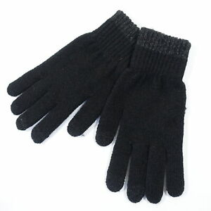 ALFANI REPREVE TOUCH SCREEN BLACK GRAY ONE SIZE KNIT GLOVES MENS NEW