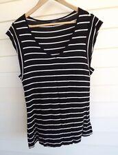 Portmans Women's Black & White Stripe Knit Top - Size M