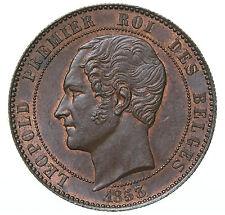 10 centimes 1853 Module Leopold I Marriage Belgium Double M & H AU/UNC SUP/FDC