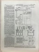 Manchester Electrical Exhibition: Oil Switch: 1908 Engineering Magazine Print