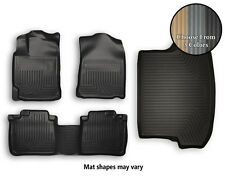 Husky WeatherBeater Front, Rear, Trunk Floor Mats All Weather Liners - 3 Colors