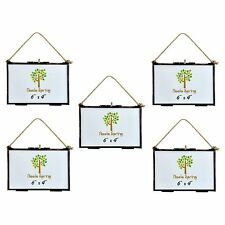 Hanging Glass Vintage Photo Picture Frame With Rope - 6x4 Photos - Pack Of 5