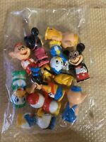 Disney Vintage Hard Plastic Pencil Toppers Figures Mickey, Minnie, Goofy - MORE