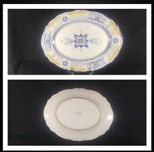 "Cama Deruta Antico Hand Painted Italian Large Oval Serving Platter 14"""