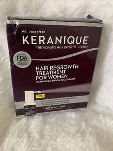 Keranique Hair Regrowth Treatment for Women 3 Month Supply Damaged Box