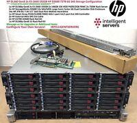 HP DL360 Gen8 2x E5-2660 192GB HP D2600 72TB 6G SAS Storage Configuration