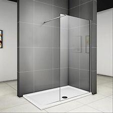 900x1950x6mm paroi de douche walk in verre anticalcaire avec barre fixation 90cm