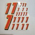 Orange w/ Yellow & Black #1's Racing Decal Sticker Sheet 1/8-1/10-1/12 RC Models