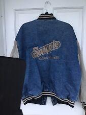 Vintage 1980's Snapple Denim 100% Cotton Jacket, Unisex, By MV Sport Size M.