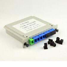Single Mode Sc/upc 1*8 1x8 1 to 8 Module Fiber Optical PLC Splitter