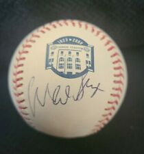 WADE BOGGS SIGNED OFFICIAL 2008 YANKEE STADIUM BASEBALL HOF W/COA+PROOF RARE WOW