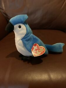 Rocket Bluejay TY Beanie Baby With Tags