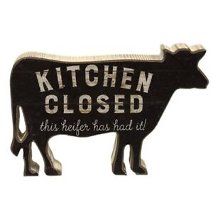 Kitchen Closed THIS HEIFER HAS HAD IT! Chunky Shelf Sitter Distressed Farmhouse