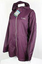 Columbia Women's Switchback Lined Long Jacket Waterproof Plus Size Purple WW0126