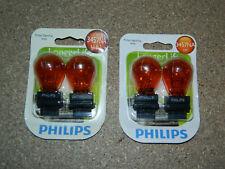 (2) PACKS OF 2 PHILIPS LONGER LIFE 3457NA TURN SIGNAL LIGHT BULBS 3457NALLB2