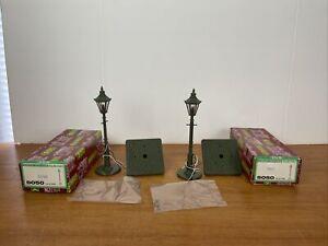 Lot Of 2 LGB Lehmann G Scale Green Ornate Gas Style Street Lamp Posts #5050