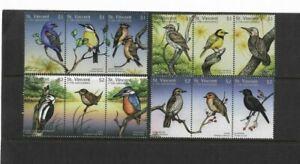Bird Set of 12 - St Vincent & the Grenadines - MM