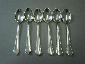 Wilkens Chippendale 6 x Moccalöffel , 800 Silber, 10 cm RAR
