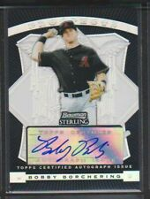 2009 BOWMAN STERLING PROSPECTS BLACK REFRACTOR ROOKIE AUTO BOBBY BORCHERING #/25