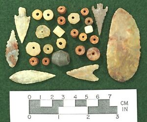 Beautiful Gem Lithics Saharan Neolithic Points & Beads * Authentic *