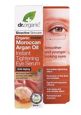 Dr Organic Moroccan Argan Oil Instant Tightening Anti-aging Eye Serum 30ml