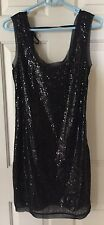 NWT BLACK SEQUIN DRESS 4 WALTER COCTAIL PARTY DRESSY SPARKLY SLEEVELSS NEW