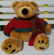 MYER PROMOTIONAL XMAS TEDDY BEAR PLUSH TOY! SOFT TOY ABOUT 30CM SEATED KIDS TOY